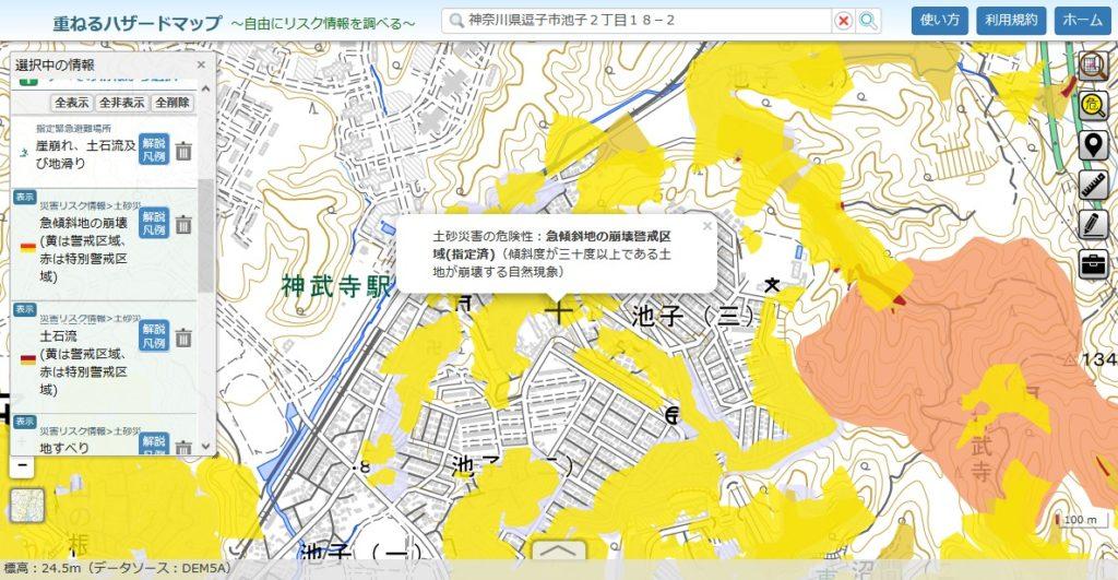 土砂災害ハザードマップ