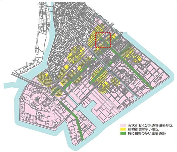 浦安市液状化被害マップ