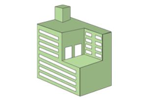 平面または断面形状が不正形なマンション