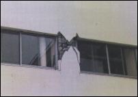 たれ壁と腰壁が上下についた柱のせん断破壊