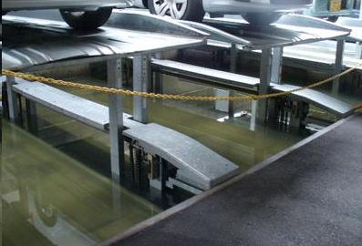 ピット式機械式駐車場の浸水