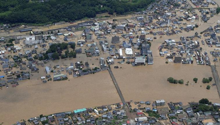 「暴れ川」氾濫