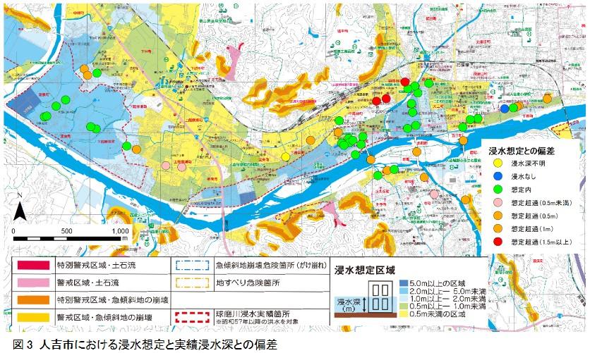 令和2年7月豪雨による熊本県人吉市および球磨村渡地区の洪水被害の特徴